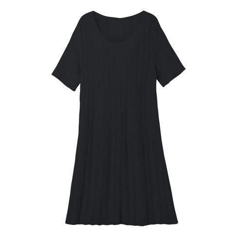 Gebreide jurk, zwart 48