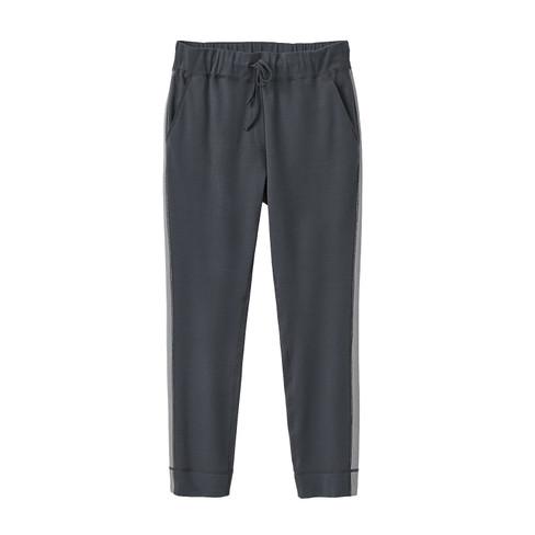 Jersey broek, antraciet-zilvergrijs 44