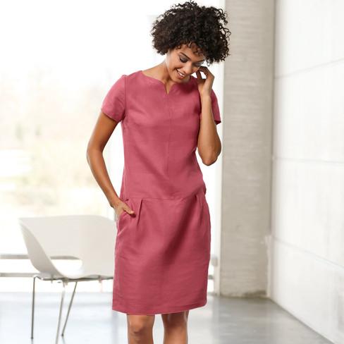 Linnen jurk, rozenhout 38