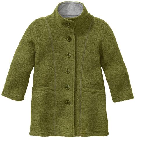 Mantel van walkstof met opstaande kraag, groen 122/128