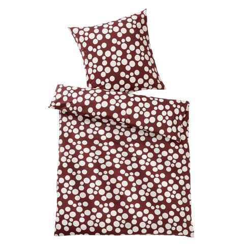 Jersey-beddengoedset stippen, vino-naturel 40 x 80 + 135 x 200 cm