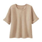 Pullover 1/2-mouw, naturel