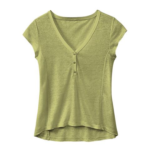 Linnen shirt, avocado 46