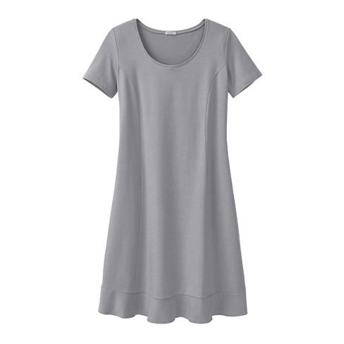 Comfortabele jurk van bio-jersey, zilvergrijs 34