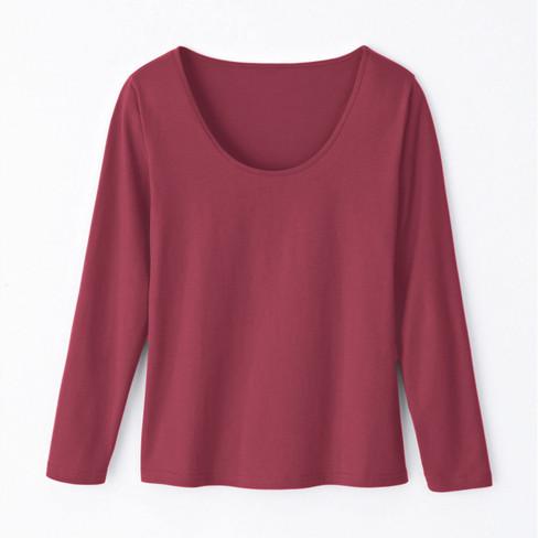 Shirt met lange mouwen, bourgogne 36/38