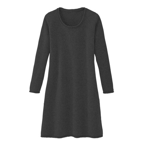 Gebreide jurk, antraciet 36 38