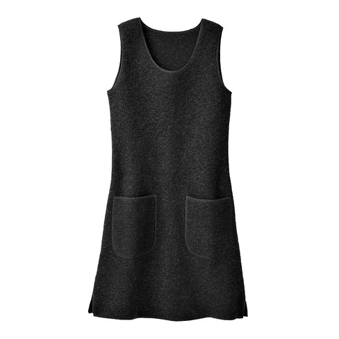 Walkstof jurk/tuniek, zwart 38