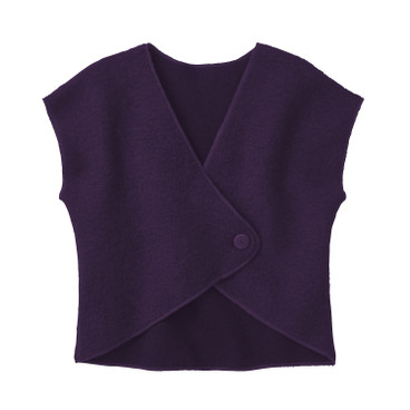 Walkstof gilet, plum