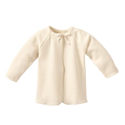 Baby-overslaghemdje uit biologisch katoen, naturelwit 62/68