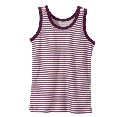Onderhemd meisjes van bio-katoen, mauve-gestreept 98/104