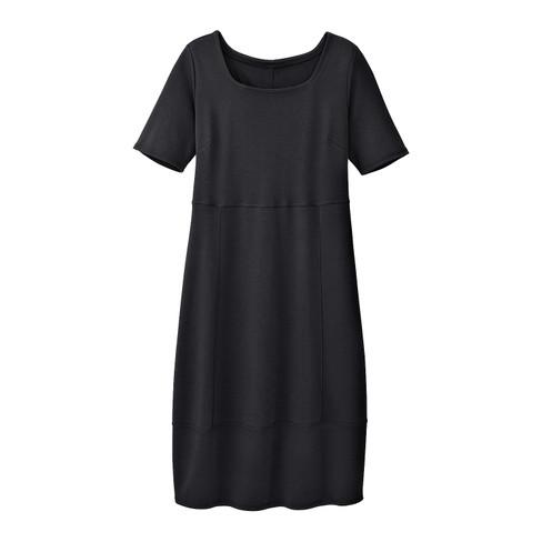 Jersey jurk, zwart 48