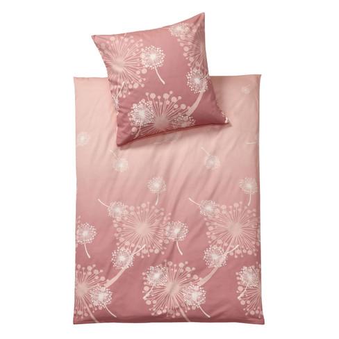 Beddengoedset in fijne flanel, 2 dlg, rozenhout 80 × 80 135 × 200 cm