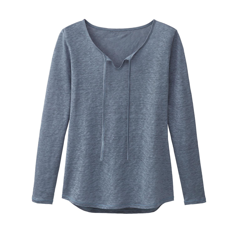 enna Linnen shirt, rookblauw | Waschbär Eco-Shop from Waschbär