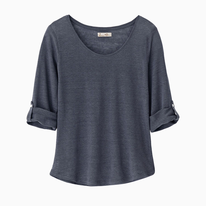 Enna Linnen shirt, Leisteengrijs   Waschbär Eco-Shop from Waschbär