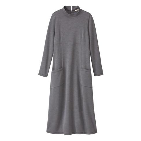 Wollen jersey jurk, antracietgrijs 36