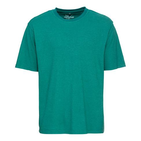 Jersey T-shirt uit een mix van hennep en bio-katoen, caribisch S