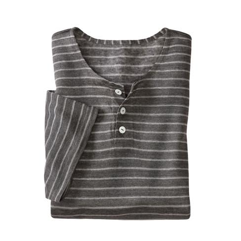 Henleyshirt, antraciet-gestreept XXL