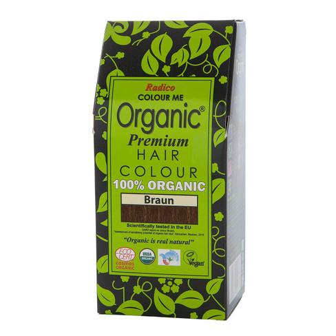 Radico Organic plantaardige haarkleuring 100 g, bruin