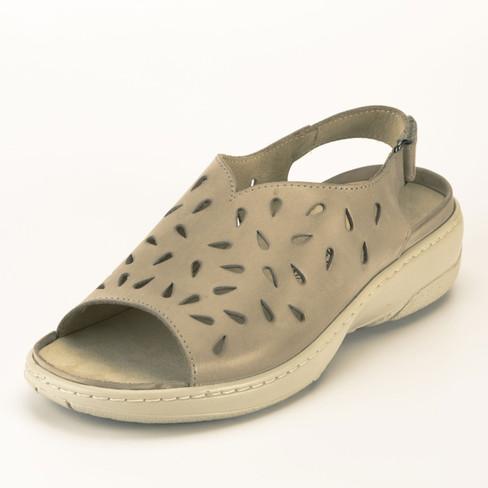 Sandaal met luchtig gaatjespatroon, beige 38