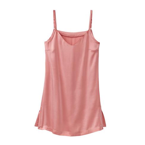 Longtop van biologische zijde, roze 46