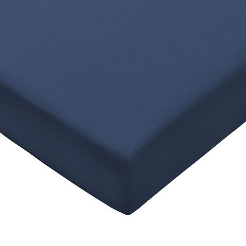 Satijnen hoeslaken, marineblauw 140 � 200 cm