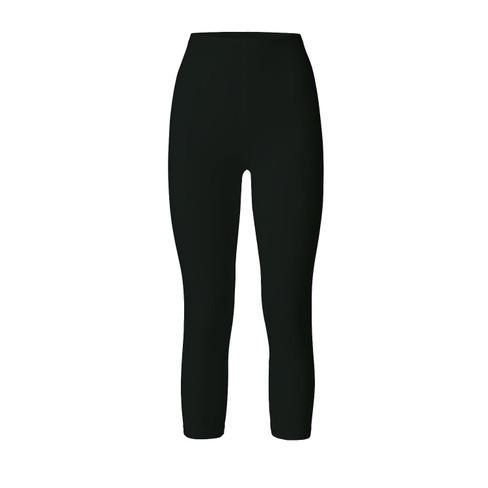 3/4-leggings uit bio katoen, zwart 44