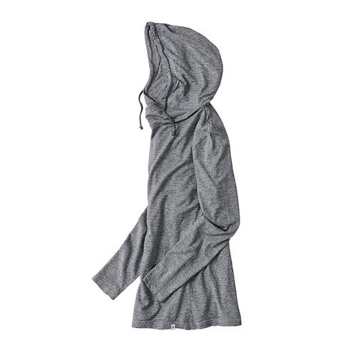 Shirt met lange mouwen en capuchon NICK, grijs M from Waschbär