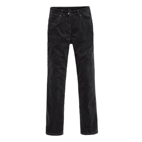 Katoenfluwelen broek LAURA, zwart 52