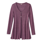 Long-cardigan 1/1 m., cassis