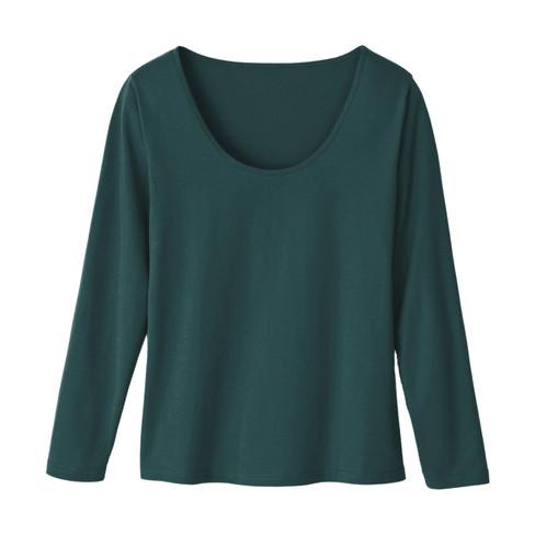 Shirt met lange mouwen, smaragd 34