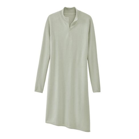 Gebreide jurk, bleekgroen 46