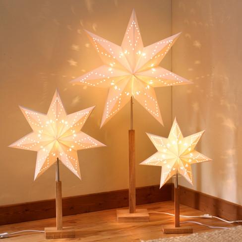 kerstster tafellamp afmeting h55 x b34 cm