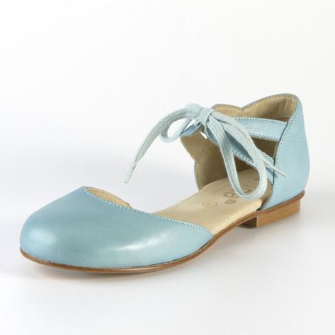 Ballerina met striksluiting, lichtblauw 40