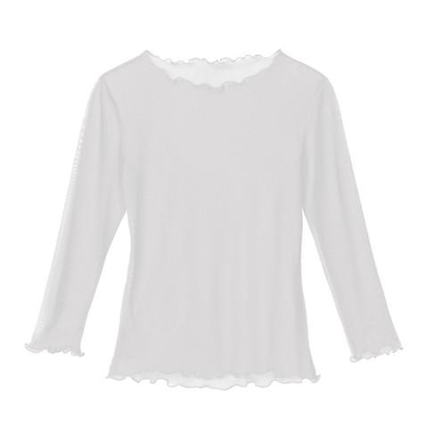 Zijden shirt, natuurwit 34