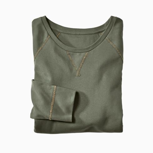 Shirt met lange mouwen uit bio-katoen, kaki S