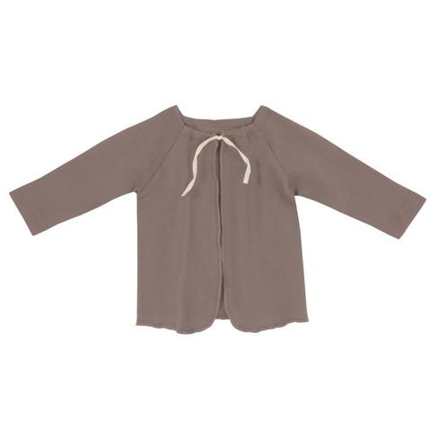 Baby-overslaghemdje uit biologisch katoen, taupe 62/68