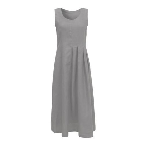 Linnen jurk, platinum 40