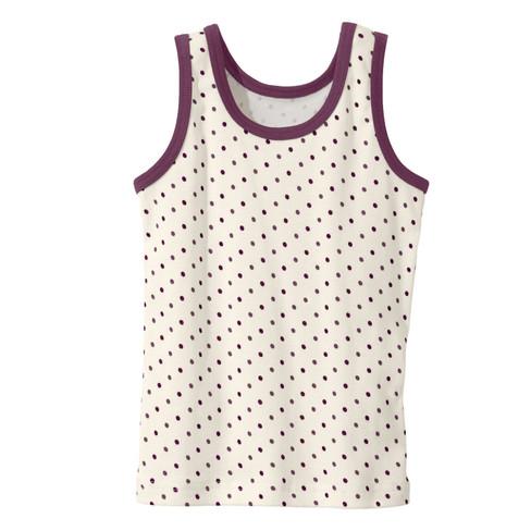 Onderhemd meisjes van bio-katoen, gestippeld 98/104