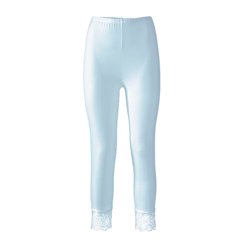 3/4-legging van bio-katoen met elastaan, waterblauw 38