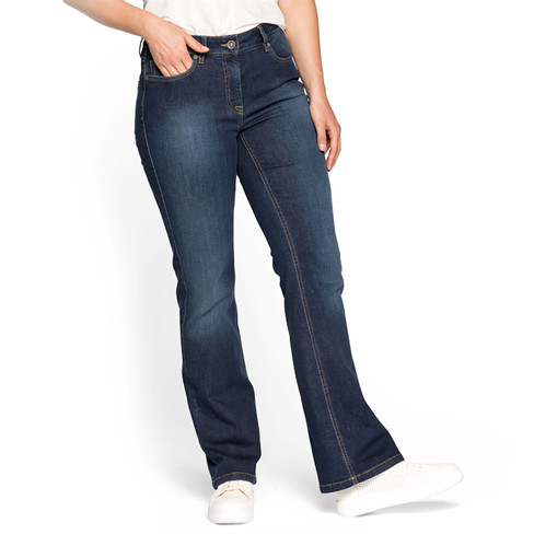 Bio-jeans bootcut, casual blue