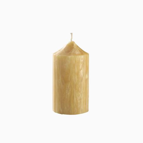 Bijenwas-kaarsen 5: � 7,5 - h 14 cm, brandt 55 uur.