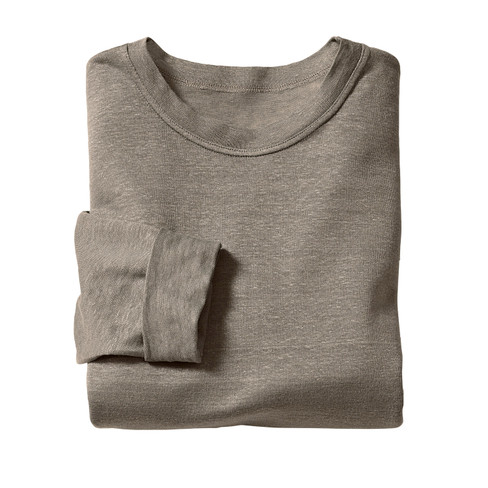 Linnen shirt met lange mouwen, kwarts XL