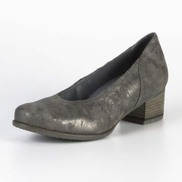 Pumps, changerend gemarmerd, taupe