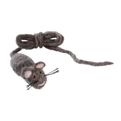 Speelmuis met band voor poezen