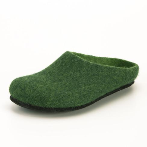 Wolvilten huisschoen, groen 41