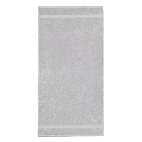 GOTS-badhanddoek, zilver 70 � 140 cm