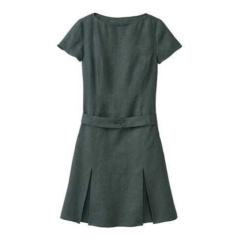 Linnen jurk, taxus 42