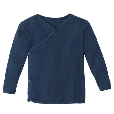 Babywikkelshirt, blauw 62/68
