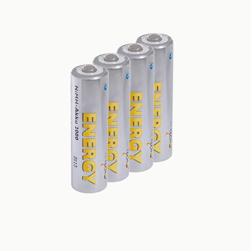 NiMH-mignonbatterijen AA*, set van 4, voorgeladen.