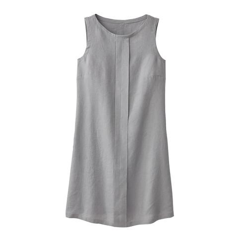 Linnen jurk, zilvergrijs 46